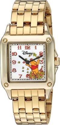 Disney Women's Winnie The Pooh Analog-Quartz Watch with Stainless-Steel Strap