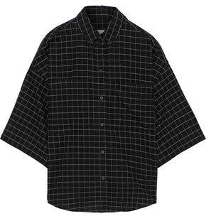 IRO Regatta Oversized Checked Cotton Shirt