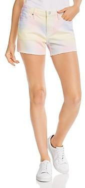 Aqua Tie-Dyed Cutoff Denim Shorts in Pastel Multi - 100% Exclusive
