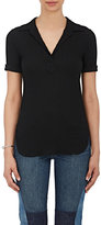 Helmut Lang Women's Rib-Knit Cotton Polo Shirt