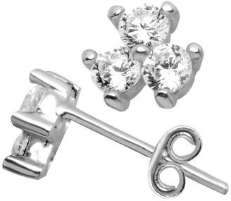 clear ITSY BITSY Itsy Bitsy Sterling Silver 6.4mm Stud Earrings