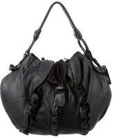 Prada Nappa Ruffles Shoulder Bag