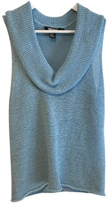 DKNY Blue Cotton Top for Women