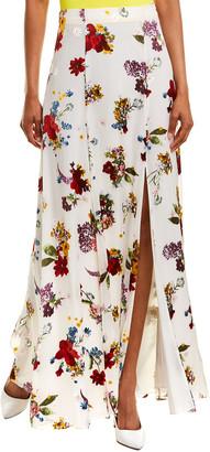 Alice + Olivia Athena Silk-Blend Maxi Skirt