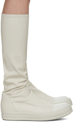 Rick Owens Off-White Sock Boots