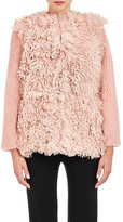 Barneys New York Women's Mixed-Fur Coat-PINK