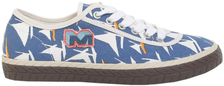 Marni Printed Canvas Sneakers