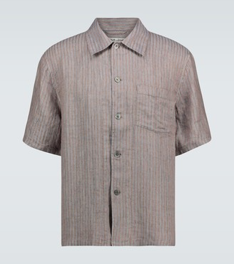 Our Legacy Box short-sleeved striped shirt