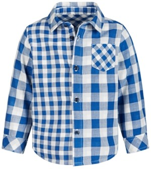 First Impressions Baby Boys Double-Faced Plaid Cotton Shirt, Created for Macy's
