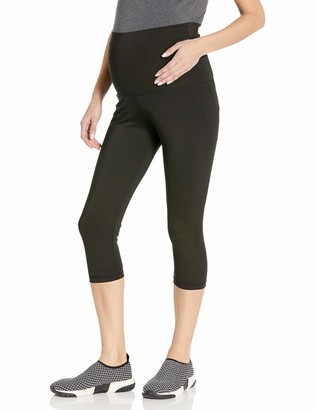 Belabumbum Women's Maternity and After Activewear Capri Pant with Belly Support