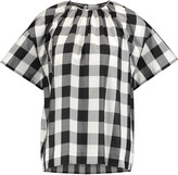 Rochas Gingham silk and cotton-blend top