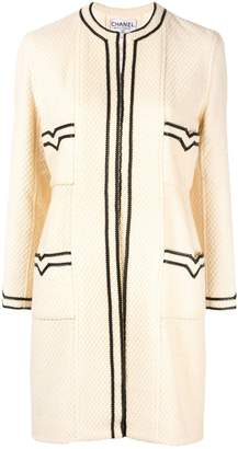 Chanel Pre-Owned CC Logos Long Sleeve Coat