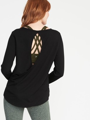Old Navy Relaxed Cutout-Back French Terry Top for Women