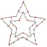 Vickerman Light-Up Star Wire Window Decoration - Multicolored Lights (48x48)