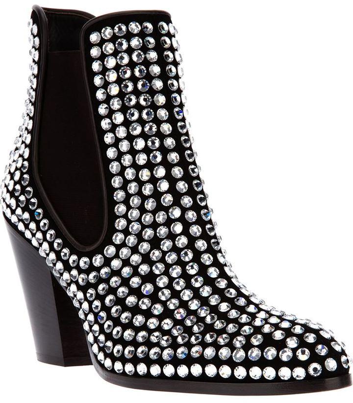Giuseppe Zanotti Design crystal studded chelsea boot