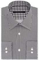 Sean John Classic/Regular Fit Men's Big & Tall Classic-Fit Black Houndstooth Dress Shirt