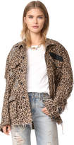 R 13 Shredded Leopard Abu Jacket