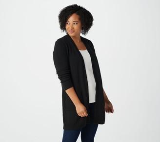 Susan Graver Brushed Cotton Acrylic Sweater Cardigan
