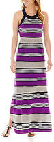 JCPenney a.n.a Striped Halter Maxi Dress - Tall