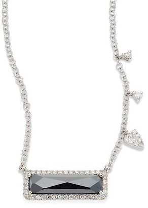 Meira T Diamond, Hematite & 14K White Gold Pendant Necklace