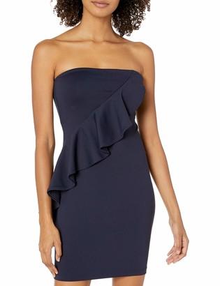 Susana Monaco Women's Spiral Ruffle Mini Dress