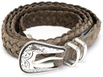 Eleventy woven Western belt
