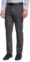 Ermenegildo Zegna Five-Pocket Regular-Fit Stretch-Denim Jeans, Gray