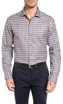 Cutter & Buck Men's Big & Tall Kent Jacquard Check Sport Shirt