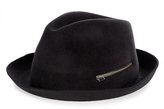 Larose Rabbit-felt zip trilby hat