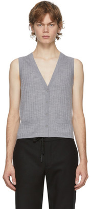 Dion Lee Grey Wool Vest