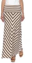 Larry Levine Stripe Maxi Skirt