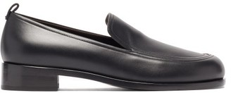 The Row Topstitched Leather Loafers - Black