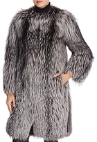 Maximilian Furs Maximilan Furs Leather-Trim Fox Fur Coat - 100% Exclusive