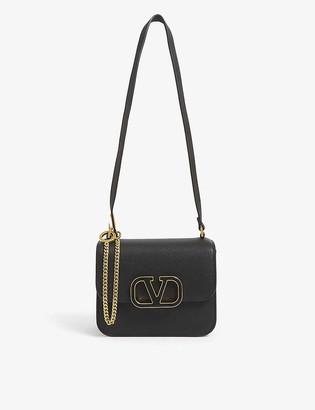 Valentino VSLING V-ring logo leather shoulder bag