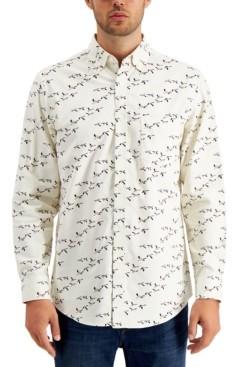 Club Room Men's Bird-Print Corduroy Cotton Shirt, Created for Macy's