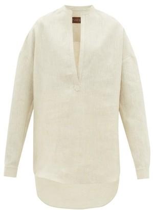 Albus Lumen - Alois Oversized Linen Shirt - Womens - Cream