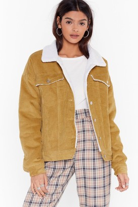Nasty Gal Womens On Borg With It Corduroy Jacket - Mustard
