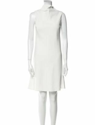 Brandon Maxwell Cowl Neck Knee-Length Dress White