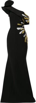 Saiid Kobeisy Structured One-Shoulder Gown