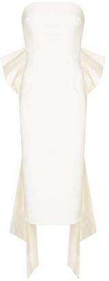 Rebecca Vallance Bridal Amore strapless crepe midi dress