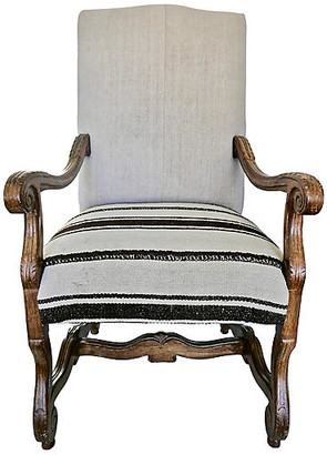 One Kings Lane Vintage Vintage Highback Berber Kilim Armchair