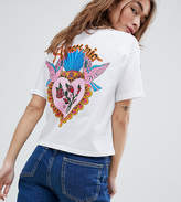 Asos DESIGN Petite Boxy T-Shirt With Mi Amore Back Print