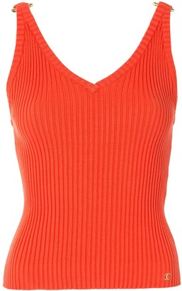 Chanel Pre Owned 2001 Knitted Ribbed Tank
