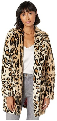 Apparis Margot Leopard Faux Fur Coat (Leopard) Women's Jacket