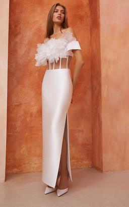 Rasario Bridal Cutout Satin Corset Dress