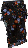 No.21 floral print ruffled skirt - women - Silk/Cotton/Polyester/glass - 42