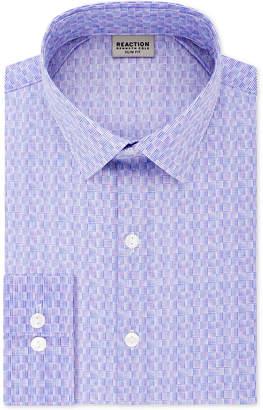 Kenneth Cole Reaction Men Slim-Fit All Day Flex Performance Stretch Geo Dot-Print Dress Shirt