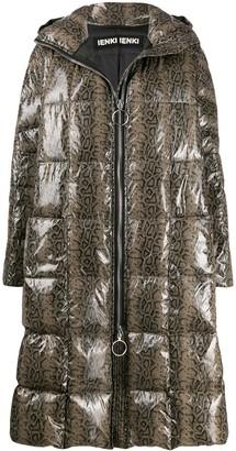 Ienki Ienki Pyramide snakeskin-print padded coat