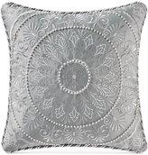 "Waterford Carlisle Platinum 16"" Square Decorative Pillow"