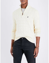 Polo Ralph Lauren Half-zip Cable-knit Cotton Jumper
